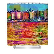 Colorful Coney Island Shower Curtain