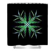 Colorful Crystalline Snowflake Shower Curtain