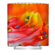 Colorful Cup Cake Shower Curtain