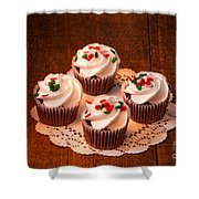 Colorful Cupcakes Shower Curtain