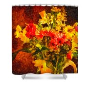 Colorful Cut Flowers - V2 Shower Curtain