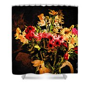 Colorful Cut Flowers - V3 Shower Curtain
