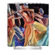 Colorful Dancers Shower Curtain