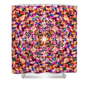 Colorful Digital Abstract Shower Curtain
