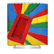Colorful Drain Shower Curtain