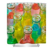 Colorful Drink Bottles Shower Curtain