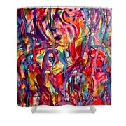 Colorful Expression-6 Shower Curtain