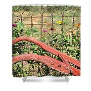 Colorful Fence Row Shower Curtain