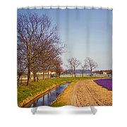 Colorful Fields Of Holland Shower Curtain