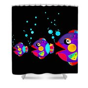 Colorful Fish Creation Shower Curtain
