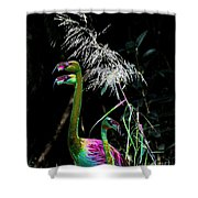 Colorful Flamingos Shower Curtain