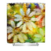 Colorful Floral Abstract II Shower Curtain