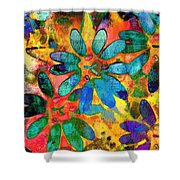 Colorful Floral Abstract IIi Shower Curtain