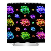 Colorful Flowers Duvet Shower Curtain
