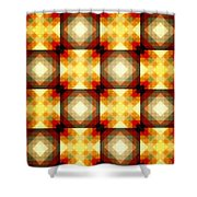 Colorful Geometric Collage Shower Curtain