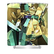 Colorful Geometric Shapes Shower Curtain