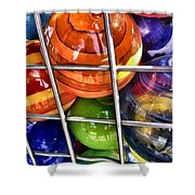Colorful Glass Balls Shower Curtain
