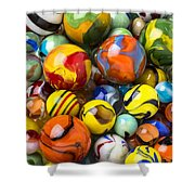 Colorful Glass Marbles Shower Curtain