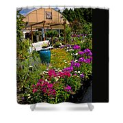 Colorful Greenhouse Shower Curtain