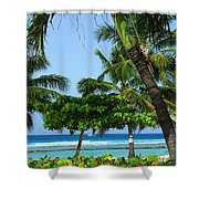 Colorful Greens And Blues Shower Curtain