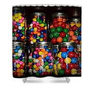 Colorful Gumballs Shower Curtain by Paul Ward