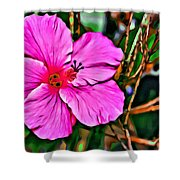 Colorful Hibiscus Shower Curtain