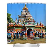Colorful Hindu Temple Shower Curtain