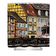 Colorful Homes Of La Petite Venise In Colmar France Shower Curtain