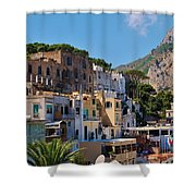 Colorful Houses In Capri Shower Curtain