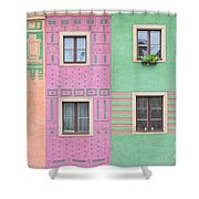 Colorful Houses Shower Curtain