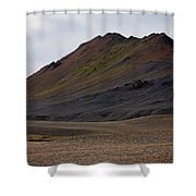 Colorful Icelandic Mountain Shower Curtain