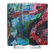 Colorful Impressionism Shower Curtain