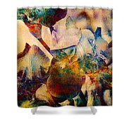 Colorful Iris Watercolor Shower Curtain
