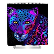 Colorful Jaguar Shower Curtain