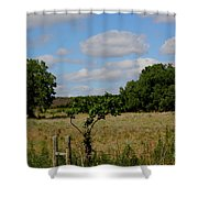 Colorful Kansas Country Pasture Shower Curtain
