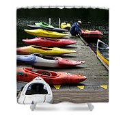 Colorful Kayaks At Whistler Bc Shower Curtain