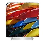 Colorful Kayaks Shower Curtain