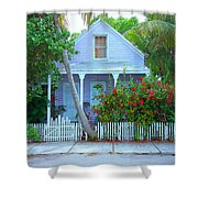 Colorful Key West Cottage Shower Curtain