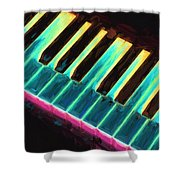Colorful Keys Shower Curtain