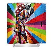 Colorful Kiss Shower Curtain