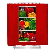 Colorful Kitchen Collage Shower Curtain