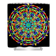 Colorful Kolide  Shower Curtain