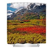 Colorful Land - Alaska Shower Curtain