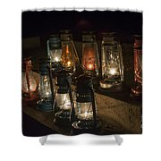 Colorful Lanterns At Night Shower Curtain