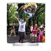 Colorful Large Bubbles Shower Curtain