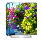 Colorful Large Hanging Flower Plants 1 Shower Curtain