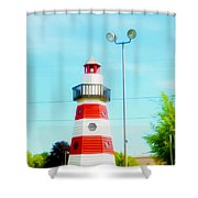 Colorful Lighthouse 2 Shower Curtain