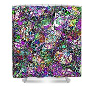 Colorful Lines Abstract Shower Curtain