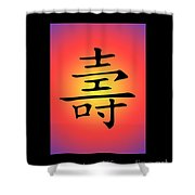 Colorful Long Life With Frame Shower Curtain