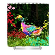 Colorful Lucy Goosey Shower Curtain